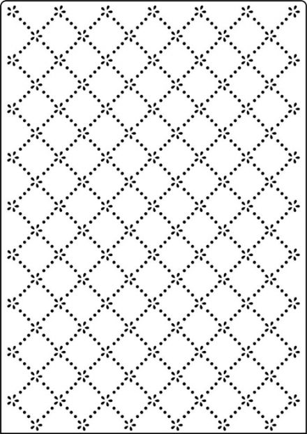 CTA419 ~ DAISY LATTICE ~ A4 embossing folder by Crafts Too